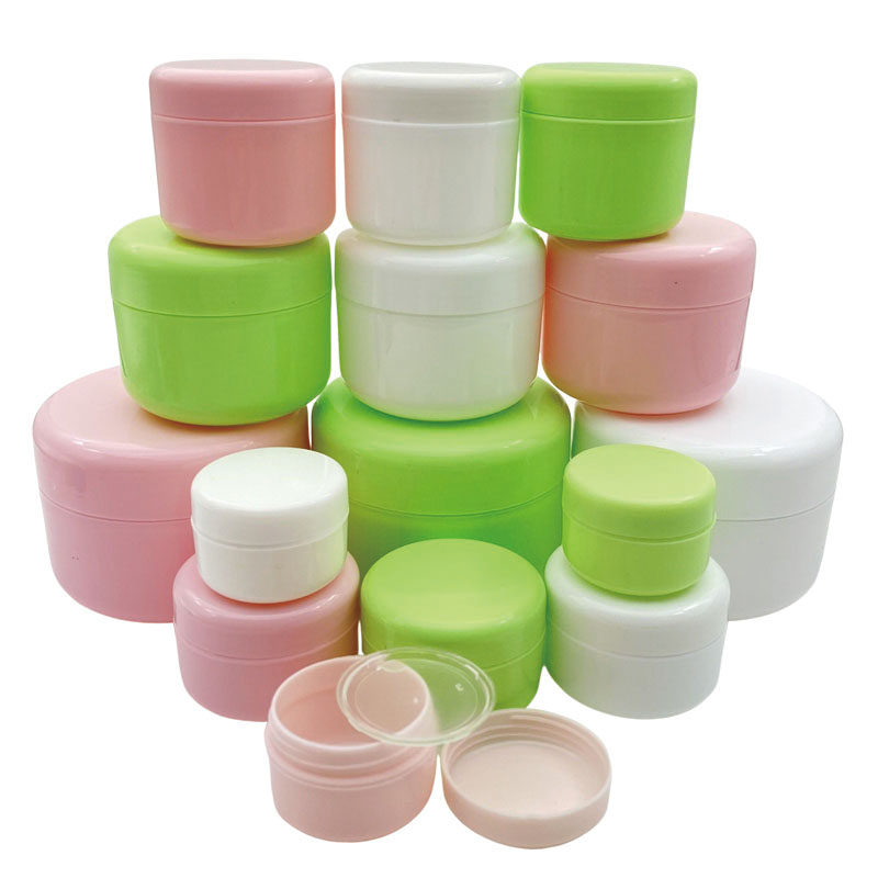 30Pcs 10g/20g/30g/50g/100g Empty Makeup Jar Pot Refillable Sample bottles Travel Face Cream Lotion Cosmetic Container White