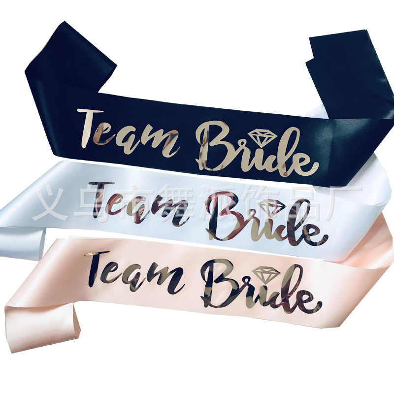1 Stuks Team Bruid Stam Sash Voor Bruiloft Vrijgezellenfeest Bridal Shower Bachelorette Party Decoraties Gunsten Cadeaus Supplies QT39