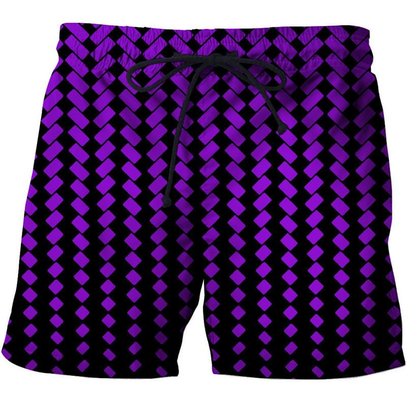 3D Beach Shorts Personalized Creative Printing Men's Casual Board Shorts Beach Holiday Quick-drying Shorts Swimwear 2019 New