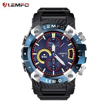 LEMFO 2020 LEMD Smart Watch Wireless Bluetooth 5.0 Earphone 2 In 1 360*360 Full Touch HD Screen Sport Smartwatch Men For Android 1