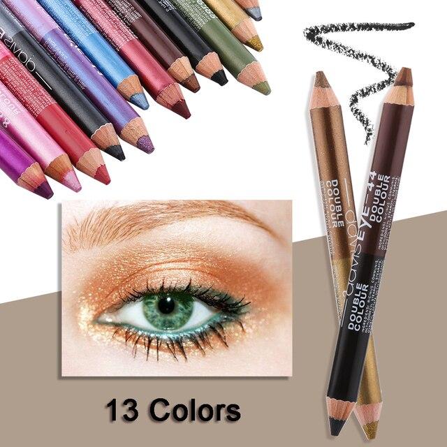 1PC wodoodporna podwójna głowica wodoodporna ciecz znaczek Eyeliner Pen tatuaż tłoczenia Eyeliner ołówek narzędzia do makijażu