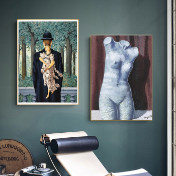 Rene Magritte Surrealism Wall Art Paintings Printed on Canvas 1