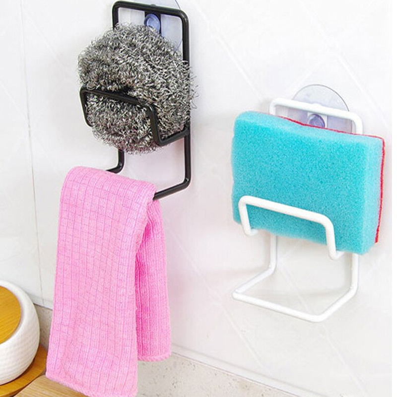 Storage Rack Double Wrought Iron Sink Sponge Drain Rack Multi-Purpose Debris Storage Rack Clean Ball Rack