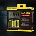1 шт. Лучшая цена NITECORE SC4 умное самое быстрое зарядное устройство отличное зарядное устройство с 4 слотами 6A Общая выходная Совместимость IMR ...