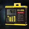 1 pc melhor preço nitecore sc4 inteligente carregamento mais rápido excelente carregador com 4 slots 6a saída total compatível imr 18650 14450 16|Acessórios portáteis de iluminação| |  -