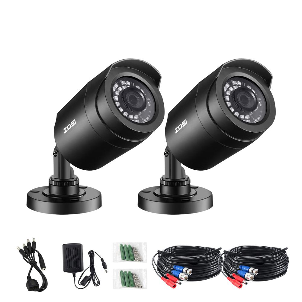 ZOSI 2pcs/lot 1080P HD-TVI 2MP CCTV Security Camera ,65ft Night Vision ,Outdoor Whetherproof Home Surveillance Camera Kit