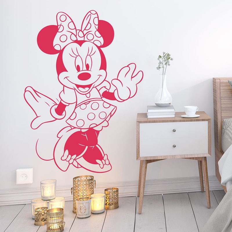 Disney Minnie Mouse Sweet Dreams Quote Wall Stickers Decal Art Vinyl Kid/'s Decor