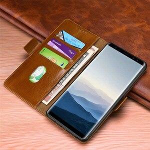 Image 3 - Роскошный флип чехол бумажник для Samsung Galaxy Note 10 9 8 s10 S9 S8 Plus Note9 Note8 S9plus из натуральной кожи, магнитный чехол книжка 360