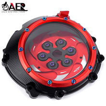 JAER CNC Racing Clear Clutch Cover & Spring Retainer R for BMW S1000RR S1000R S1000XR HP4 Waterproof Solid Billet Accessories