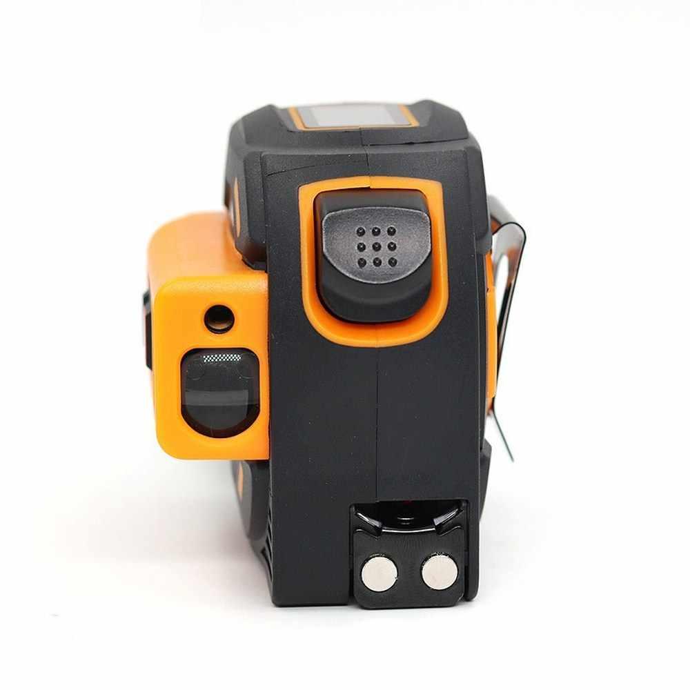 2 in 1 40+5M Laser Ruler Rangefinder LED Digital Tape Measure Distance