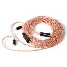 NICEHCK Cable de cobre sin oxígeno de alta pureza, 4 núcleos, OFHC 4N, 3,5/2,5/4,4mm, enchufe MMCX/2 pines para ZSX LZ A7 TFZ NICEHCK NX7 MK3/F3