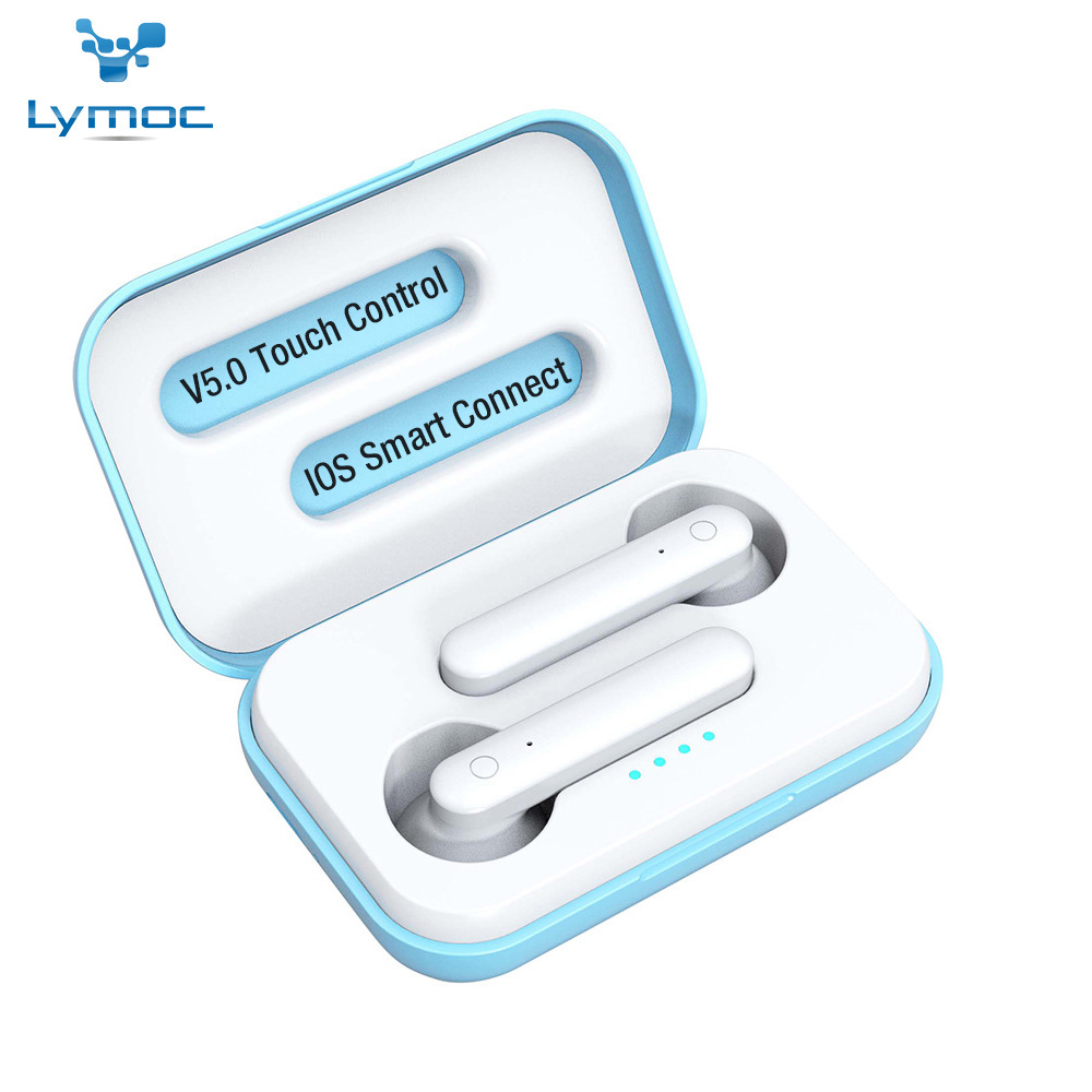 LYMOC X12 TWS Drahtlose Kopfhörer <font><b>Bluetooth</b></font> 5,0 Headsets Worktime 4Hrs Touch Earbuds Stereo Kopfhörer Mic für iPhone und Android image