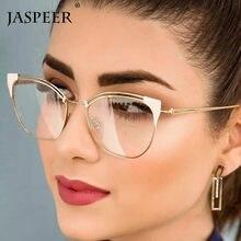 JASPEER – lunettes de vue rétro pour femmes, yeux de chat, monture en métal, pour myopie, presbytie, sur Prescription