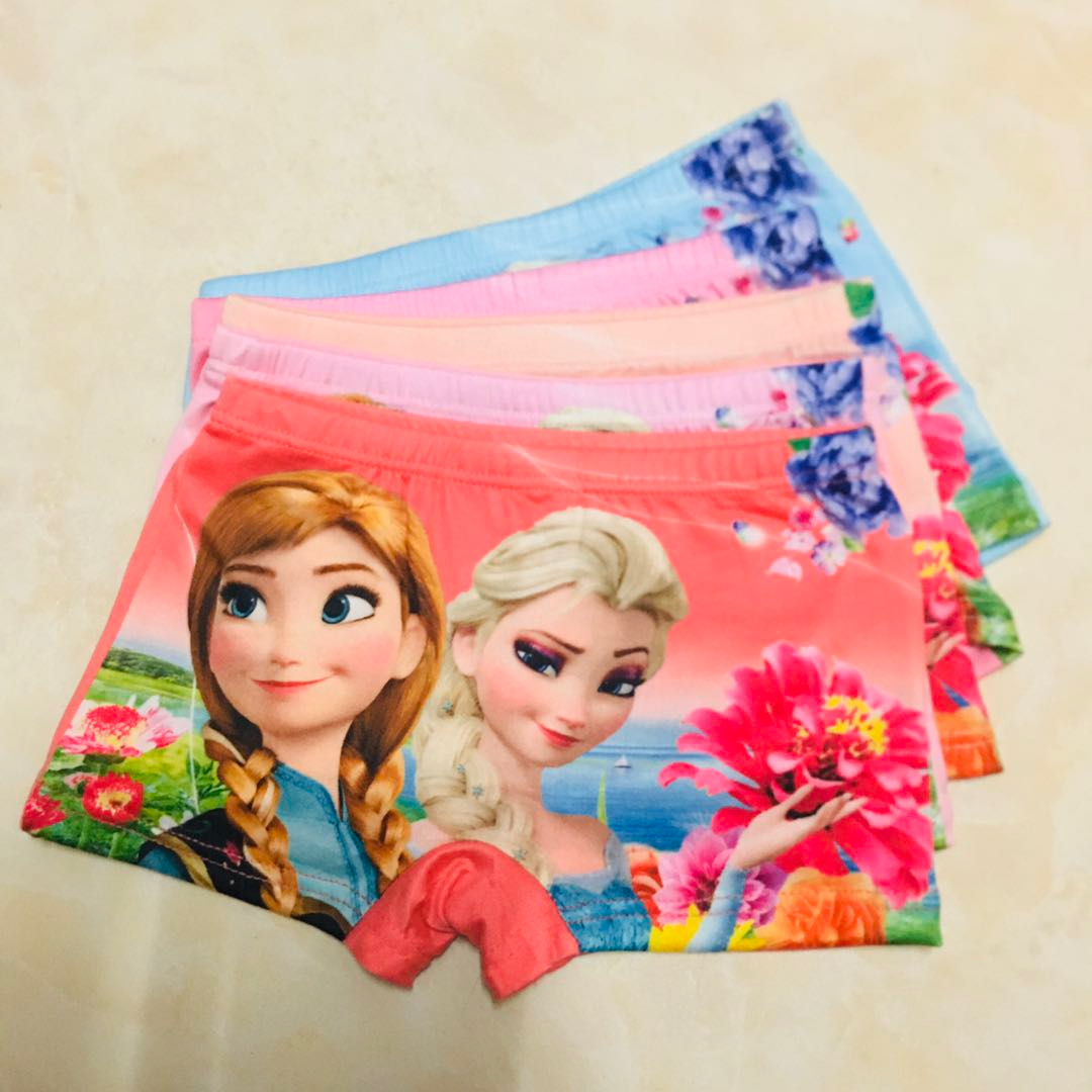 5pcs/lot Underwears For Girls Kids Baby Underwear Panties Infant Boxer Briefs Ice Princess Teenagers For 2-11 Y Panty