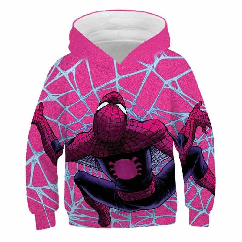 Jongens Meisje Hoodies Avengers Superheld Iron Man Thor Hulk Captain America Spiderman Sweater Voor Jongens Kid Cartoon Jas