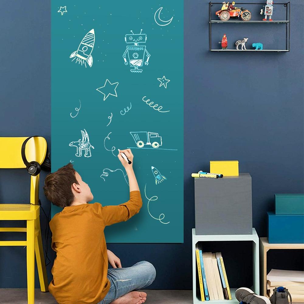 Kids Graffiti Blackboard Removable Decor Wall Sticker Hold Magnets Office School Writing Message Board Blackboard Chalkboard