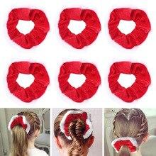 Новинка 10 шт. рождественские резинки для волос резинка для волос галстук веревки конский хвост держатели VA88