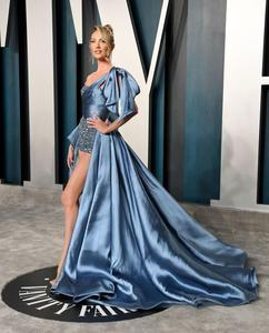 Image 2 - Oscars Pantalones Candice Swanepoel, alfombra roja, alto, bajo, un hombro, vestido Formal de noche, 2020