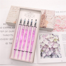 Acrylic Marble Style Calligraphy Cartoon Comic Drawing Fountain Dip Pen Antique Elegant Gifts