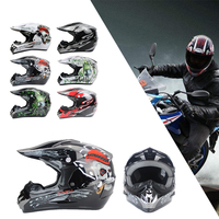 Durable Motorcycle Helmet Riding Cycling Racing Full Face Comfortable Multi Pattern Safety Hat Craniacea Creativity