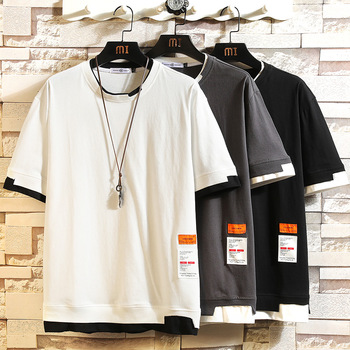 Summer Short Sleeves Harajuku Korea Fashion White T-shirt Streetwear One Piece Hip Hop Rock Punk Men Top Tees Tshirt Clothes 1