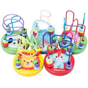 Image 2 - モンテッソーリベビー木製おもちゃワームフルーツチーズ木のおもちゃベビーキッズ教育玩具ロープピアスモンテッソーリおもちゃギフト