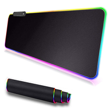 Gaming Mouse Pad Large Size Colorful Luminous for Pc Computer Desktop 7 Colors Led Light Desk Mat Gaming Keyboard Pad