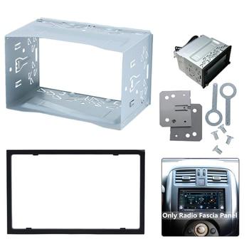 Рамка для установки радио, 2 DIN, Универсальная рамка, чехол для автомобиля, DVD плеера, рамка для монтажа|Панели|   | АлиЭкспресс
