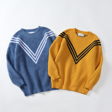 Knitted Sweater Pullover Long-Sleeve Toddler Baby-Boys Winter Fashion Warm Top Kid 3-11T