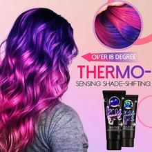 60ml Professional Use Colour Cream Magical Thermochromic Semi Tool Permanent Purple Grey Dye Green Hair Paint Blue Color St Z5G6