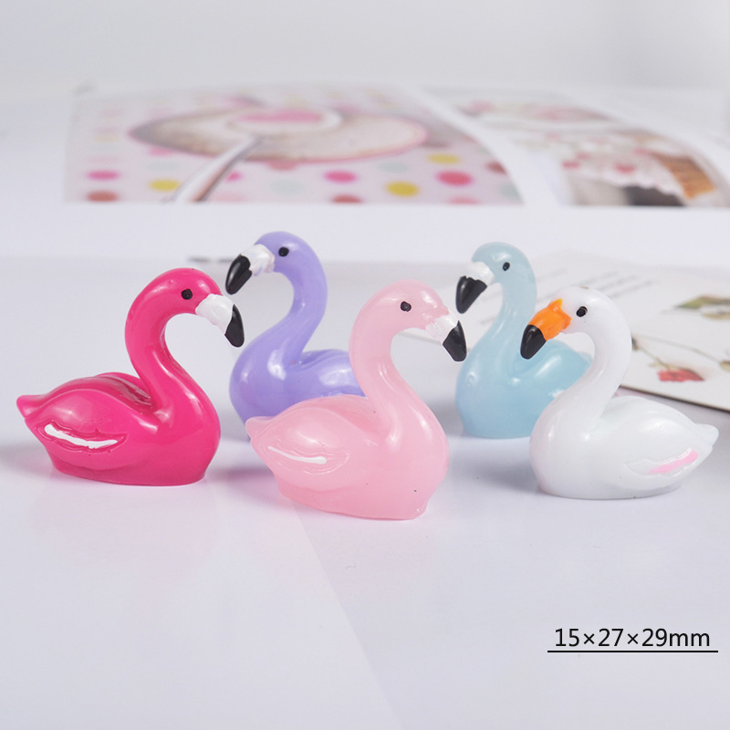 5 Colors Animals Flamingos Models Super Light Clay Slime Supplies DIY Glue For Slices Creative Crafts Materials Slime Filler