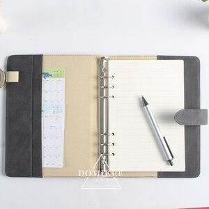 Image 5 - 2017 neue klassische büro schule 6 löcher spirale notebook schreibwaren, feine leder bindemittel persönliche agenda planer organizer A5 A6