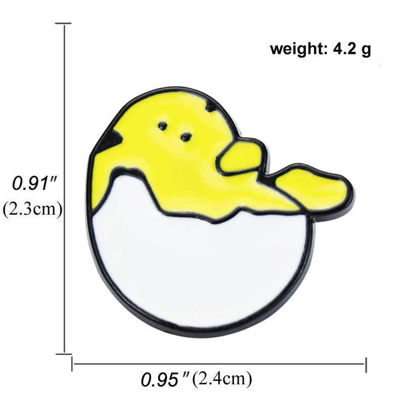 Gudetama Lazy Telur Bros Cute Kawaii Gudetama Telur Kerah Pin