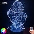 Аниме лампа Goku фигурка декор для детской спальни ночсветильник крутой подарок для детей на день рождения Аниме гаджет светодиодный ночсвет...