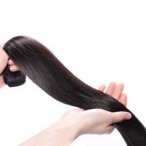 Прямые человеческие волосы Queenlife 30 32 дюйма, пряди с фронтальным бразильским Реми, предварительно отобранные 13x4 13x6, кружевные фронтальные пр...