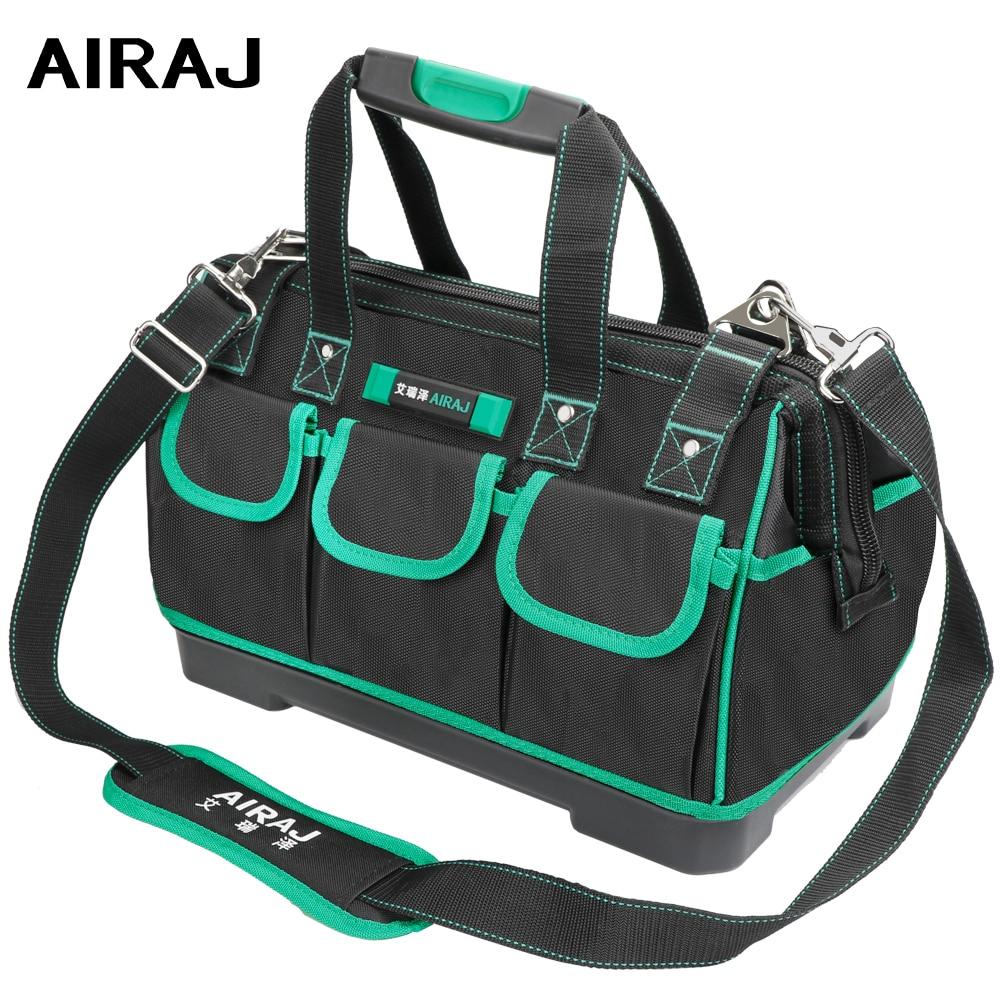 AIRAJ 13/16/18/20 Inch New Tool Bag, Large Capacity Waterproof Electrician Bag Plastic Bottom Men's Oblique Bag Tool