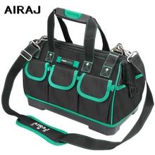 AIRAJ 13/16/18/20 inch New Tool Bag, Large Capacity Waterproof Electrician Bag Plastic Bottom Mens Oblique Bag Tool