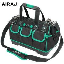 Bolsa de ferramentas airj 13/16/18/20 polegadas, grande capacidade impermeável saco eletricista de plástico fundo dos homens ferramenta oblíquo