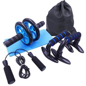 AB Roller Kit Forte Carico-cuscinetto con Push-Up Bar Corda di Salto Knee Pad Palestra di Casa Addominale Core muscolo Esercizio Attrezzature Per Il Fitness 1
