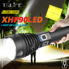 160000LM Xlamp XHP90 LED Flashlight Super Powerful Torch USB XHP50 Lamp Zoom Use 18650 26650 Rechargeable Battey for Hunt