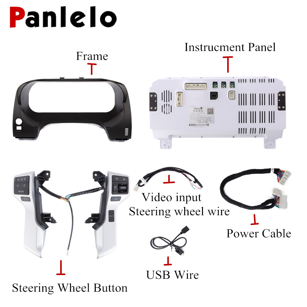 Image 5 - Panlelo Instrument Panel Replacement Dashboard 12.3 inch Navigator with Full Liquid Crystal Instrument for Toyota Prado SWC-in Car Multimedia Player from Automobiles & Motorcycles