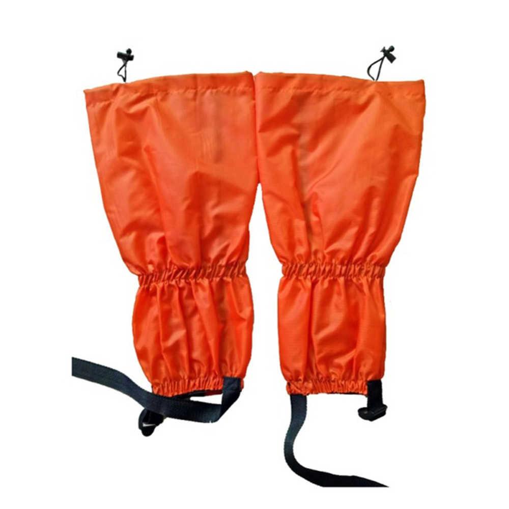 Impermeable a prueba de arena ciclismo zapato cubierta al aire libre senderismo Trekking escalada esquí pierna mallas cubierta botas de esquí nieve Gaiters invierno