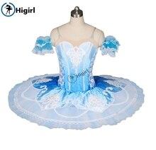 Women blue and white nutcracker ballet tutu for girls pancake professinal costumes BT8986