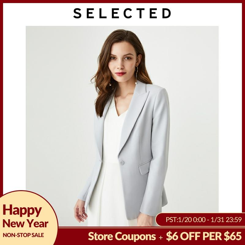 SELECTED Women's Slim Fit Closure Collar One-button Blazer Jacket S|419372514