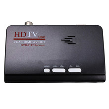 Smart Tv Box Us Plug 1080P Hd Dvb-T2/T Tv Box Hdmi Usb Vga Av Tuner Receiver Digital Set-Top Box-Eu Plug(China)