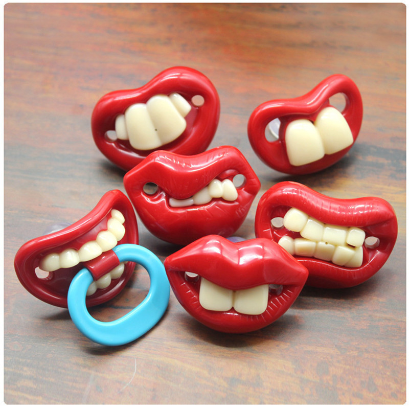 Toddler Pacifier Teat Nipple Funny Silicone Orthodontic 1pcs For Baby Gift Food-Grade