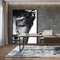 Скандинавская скульптура Дэвида голова, черно-белые плакаты и принты, настенное искусство, картины на холсте, картины, украшение для гостин...