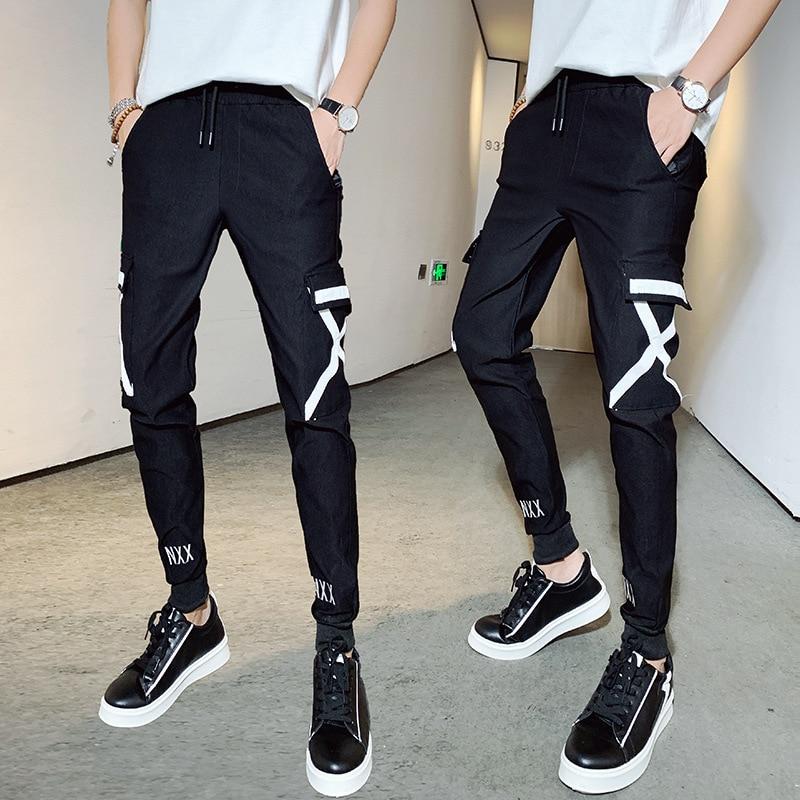 National Trends Casual Pants MEN'S Pants Loose-Fit Workwear Athletic Pants Men's Slim Fit Pants Korean-style Trend Capri Casual