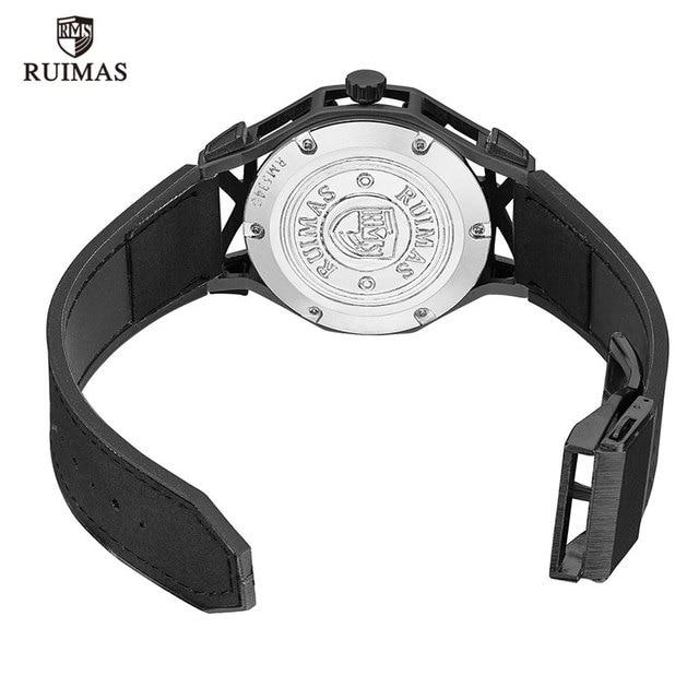 Ruimas Black Designer Luminous Leather RL534G