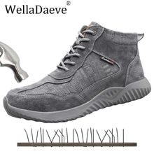 Men High Top Safety Shoes Steel Toe Lightweight Construction Protective Footwear